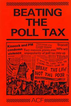 Beating the Poll Tax pamphlet front cover