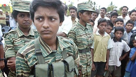 Child soldiers recruited by the LTTE
