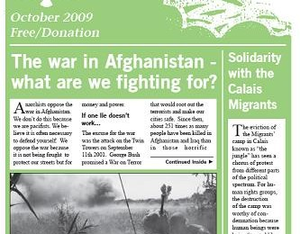 cover of Resistance Bulletin 116 October 2009