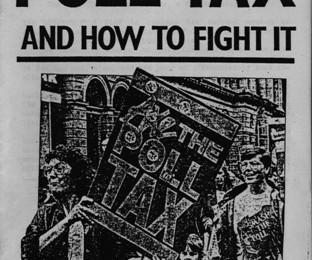 The Poll Tax and How to Fight It pamphlet front cover