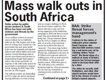 cover of Resistance Bulletin 125 September 2010