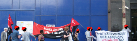 Office Angels - solidarity action after temp worker denied wages in Wimbledon