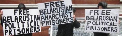 Belarus prisoner solidarity demo in London Sept 2012