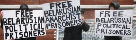 Belarus prisoner solidarity demo in London Sept 2012