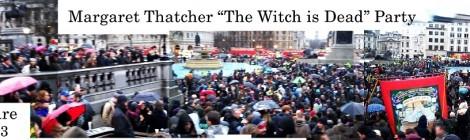 Trafalgar Square London - Thatcher Death Party - 13/4/2013