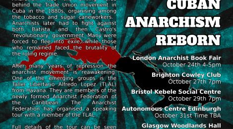 Cuban Anarchism Reborn - Speaking Tour