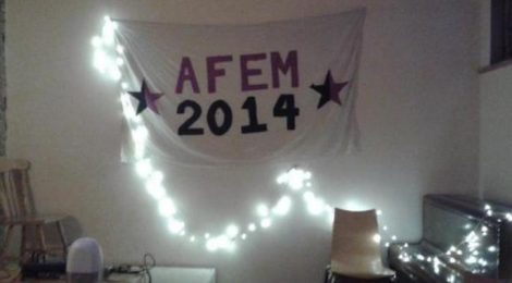 AFEM 2014 anarcafeminist conference banner at LARC in London