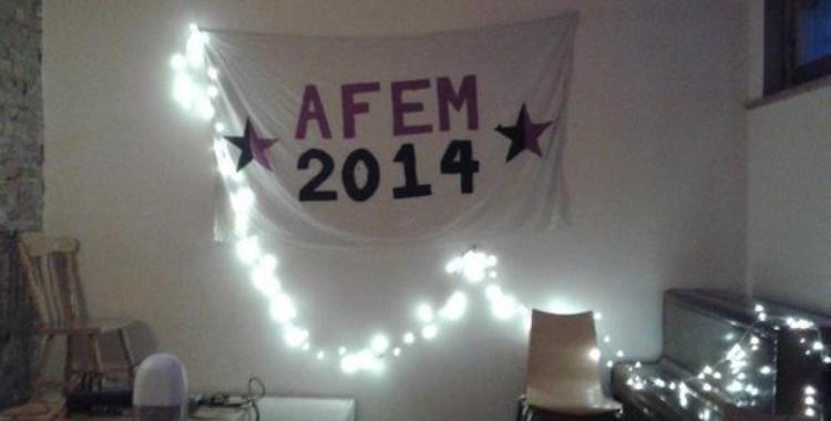 AFEM 2014 banner at LARC