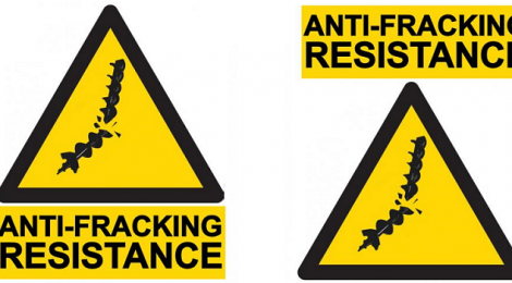 Anti-fracking imagery