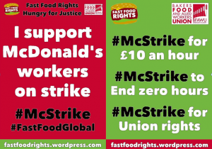 FastFoodRights UK McDonalds Strike leaflet - McStrike September 2017