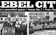 Cover image of London anarchist federation group paper Rebel City issue 7 - October 2017