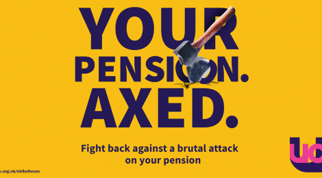 UCU pension axed poster 2018