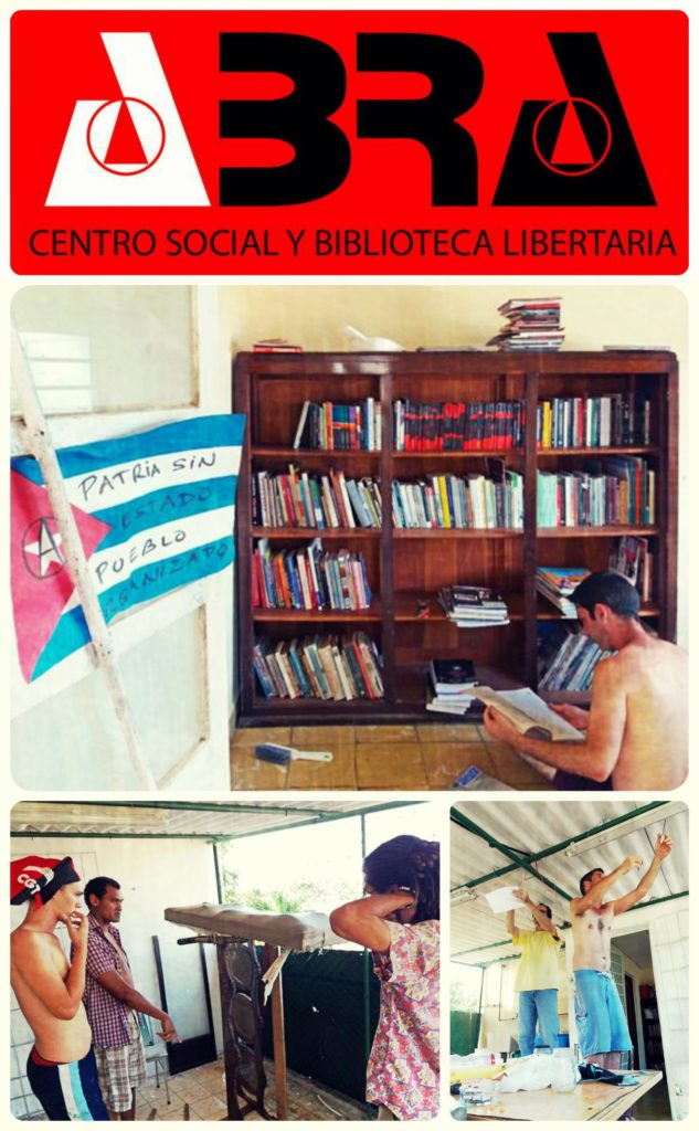 Anarchist Social Centre in Havana Cuba opened 5th May 2018 - collage images of the centre