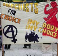 Anarchists for Choice banner
