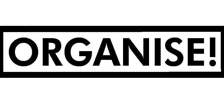 AF Organise! magazine title banner
