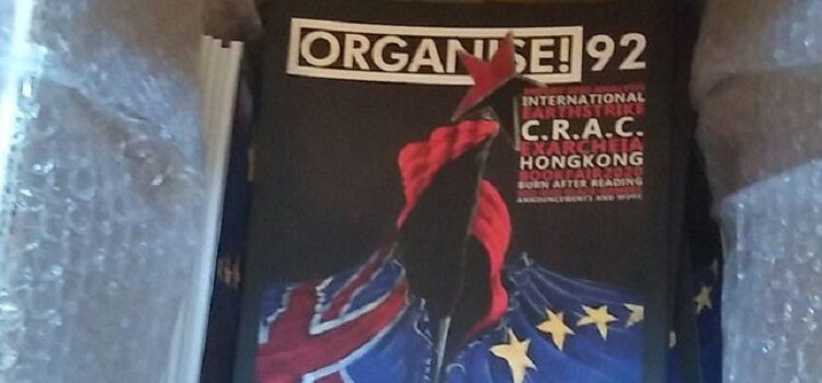 Organise magazine issue 92 Winter 2019 cover - cropped