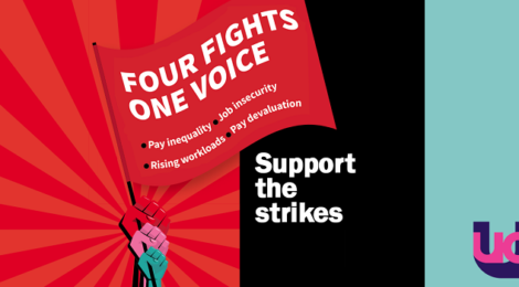 UCU campaign 2019-20 - four fights support strike