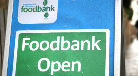 PIcture of a foodbank sign